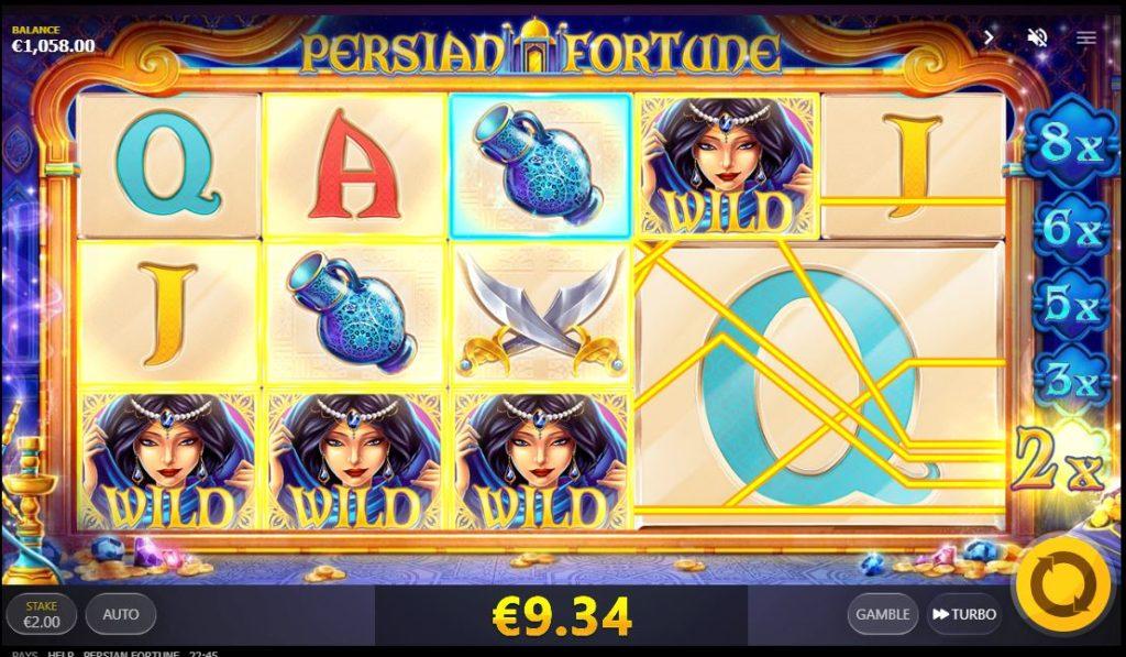 รายละเอียดของเกมสล็อต Persian Fortune